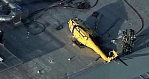 Вертолет разбился на крыше здания в США